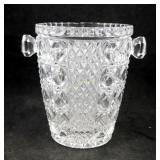 "6"" Vintage Glass Crystal Wine Chiller Ice Bucket"