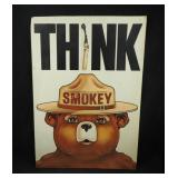 Vtg 1974 Smokey The Bear  Forestry Service Sign