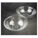 Pyrex Clear Glass 2.5 & 4 Qt Mixing Bowls Lot