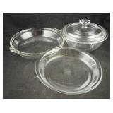 4 Pc Glass Casserole & Pie Baking Dishes