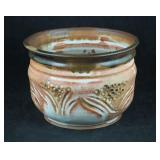 "Vtg 9"" Hand Crafted Ceramic Clay Pot"