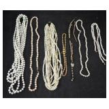 Vintage Assorted Beaded Faux Pearl Necklaces Lot