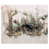 WU GUANZHONG Chinese 1919-2010 Watercolor