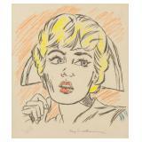 American Pop Art Graphite Signed Roy Lichtenstein