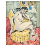 French Gouache Woman Signed Henri Matisse