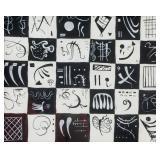 Spanish Gouache Symbols Signed Miro