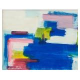 American Acrylic Abstract Signed Frankenthaler