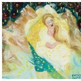 Austrian Oil Art Noveau Woman Signed Gustav Klimt