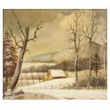 R. SONCK Dutch-Canadian XX Oil on Canvas Landscape