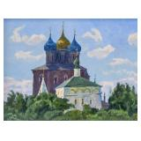 Artist Signed Russian OOC Orthodox Church