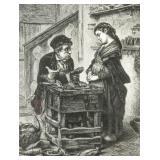 Antonio Rotta Italian 1821-1903 Etching