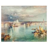 Lithograph Print Thomas Moran Landscape Dated 1898