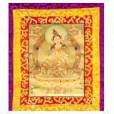 Tibetan White Tara Tanka Painting Scroll
