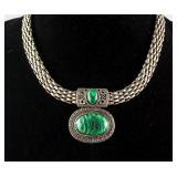 Malachite Silver Necklace