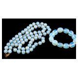14k Opalite Necklace and Bracelet
