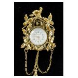Vintage Taylorette Swiss Made Cuckoo Clock Brooch
