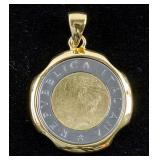 Italian Coin Pendant