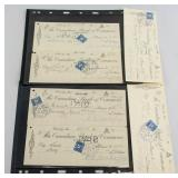 1930s Canadian Alberta Cancelled Cheques 6PC