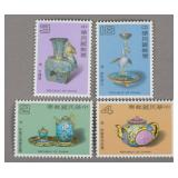 4 Stamps Special 208 Ancient Chinese Enamelware