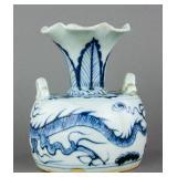 Yuan BW Dragon Porcelain Vase 14/15th Century