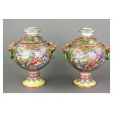 Pair Famille Rose Porcelain Censers Yongzheng MK