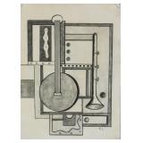 Fernand Leger French Cubist Pencil on Paper