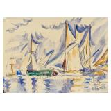 Paul Signac French Neo-Impressionist Watercolor