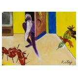 RB Kitaj American Pop Art Gouache on Paper