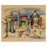 Raoul Dufy French Fauvist Watercolor on Board