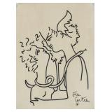 Jean Cocteau French Surrealist Marker on Paper