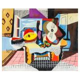 Pablo Picaso Spanish Cubist Oil on Canvas