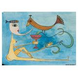 Victor Brauner Romanian Surrealist Mixed Media