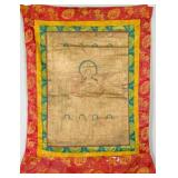 17/18th Century Chinese Tibetan Tanka on Silk