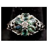 14k Alexandrite & Diamond Ring