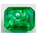 12.00 ct Natural Green Emerald w/ GGL Certificate