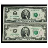 US Two Dollar Federal Reserve Note Series 1976-2
