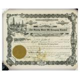 1919 The Smoky River Oil Company LTD Stock Cert