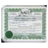 1952 Whitehorse Tungsten Corporation Stock Cert