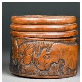 Chinese Carved Coaster Set with Case