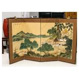 Chinese Silk Watercolor Painting Panel