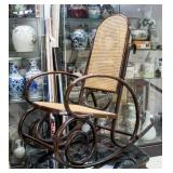 Chinese Rosewood Carved Rocking Chair