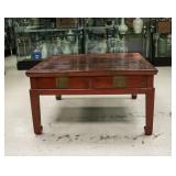 Chinese Lacquered Wood Low Tea Table