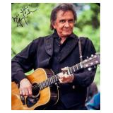 Johnny Cash Autographed Photograph JSA Letter