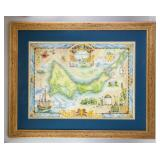 1820 Bill Wills Providenciales Map Print Framed