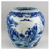 Chinese Ming/Qing Blue and White Porcelain Jar
