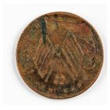 1913-1920 China 10 Cash Copper Henan Mint Y-A392
