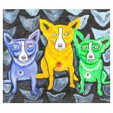 """American Oil on Canvas Signed """"Rodrigue"""""""