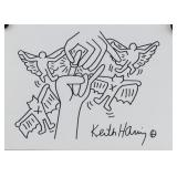 American Pop Mixed Media Signed Keith Haring