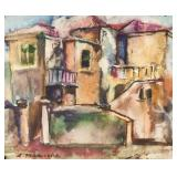 American-Russian Watercolor Signed A Manievich