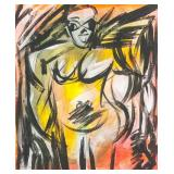 Dutch-American Oil on Canvas Signed de Kooning